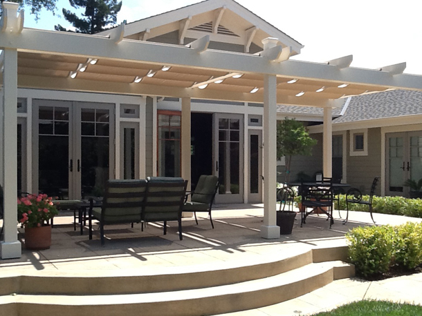 Canopy Skylight Pergola Patio Roman Shades